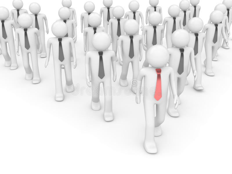 Team leader in group royalty free stock photo