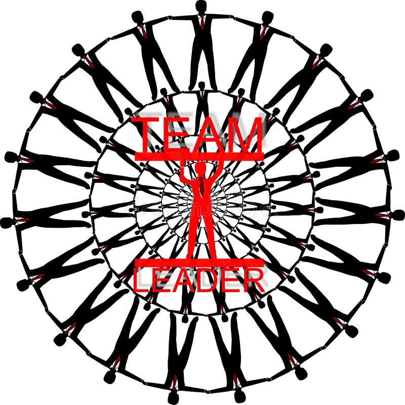 Download Team leader stock illustration. Image of diversity, following - 32686753