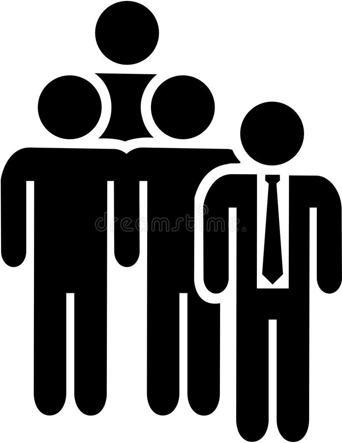 Team Leader-pictogram royalty-vrije illustratie