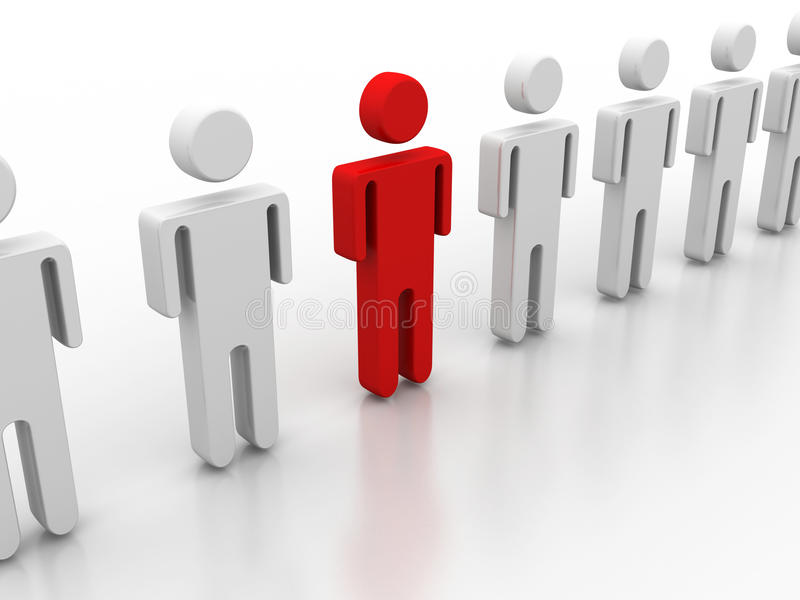 Download Team leader stock illustration. Image of icon, equality - 42789044