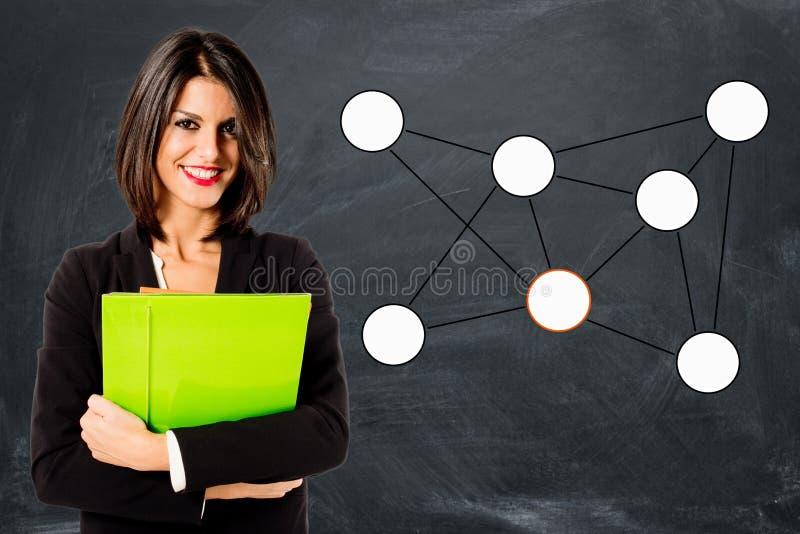 Team leader. Young executive woman stock photos
