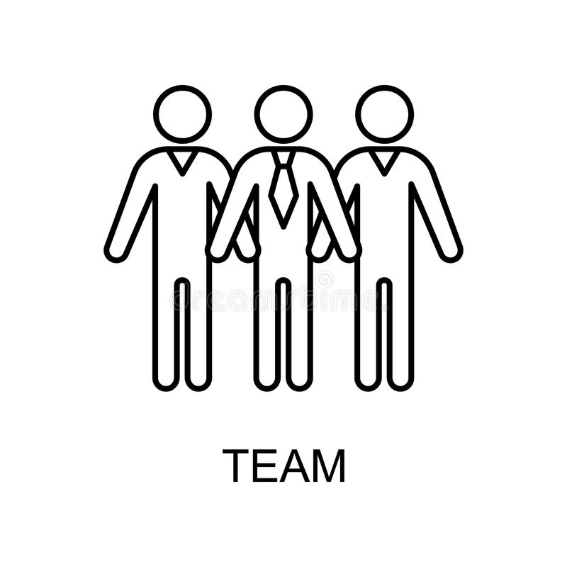 Team line icon. Element of human resources icon for mobile concept and web apps. Thin line team icon can be used for web and mobil. E. Premium icon on white vector illustration