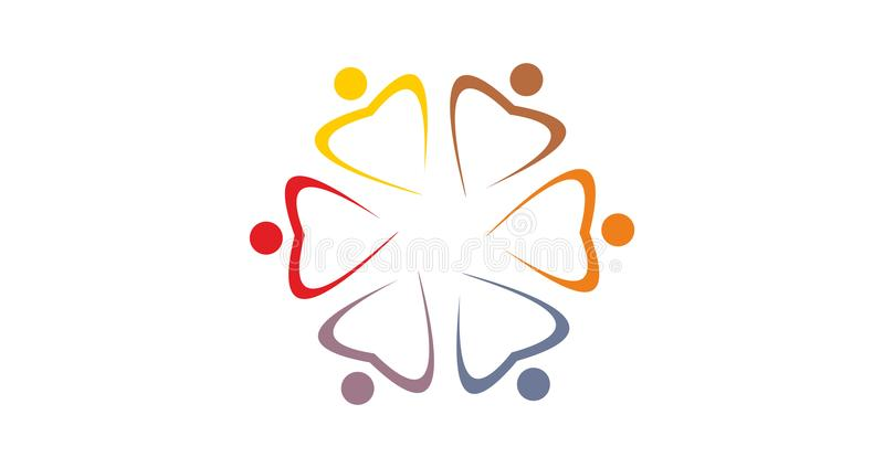 Team logo colourfull royalty free stock images