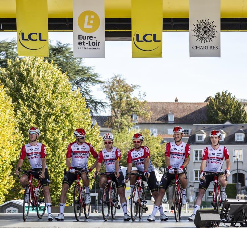 Team Lotto-Soudal - Paris-Tours 2019 royalty free stock photo