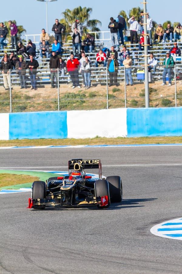 Download Team Lotus Renault F1, Romain Grosjean, 2012 Editorial Photography - Image: 23856237
