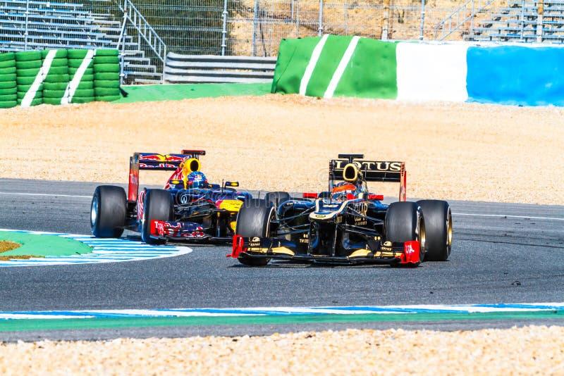 Download Team Lotus Renault F1, Romain Grosjean, 2012 Editorial Image - Image: 26486365
