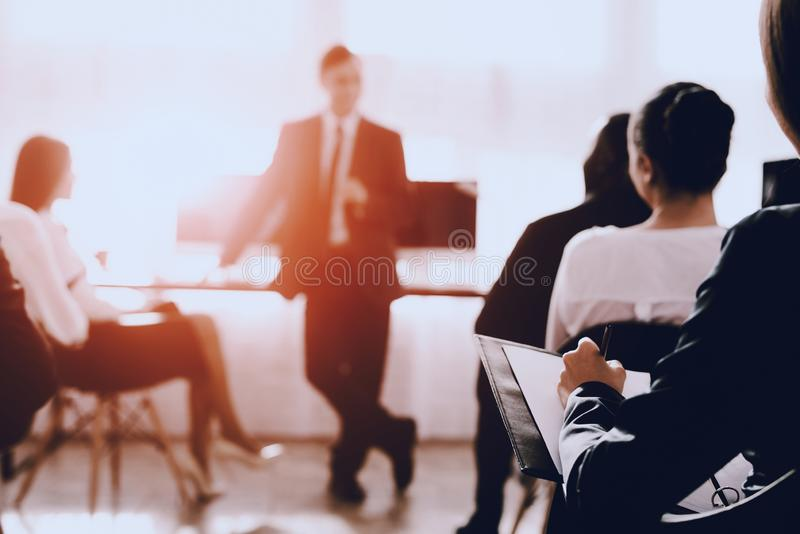 Team of Managers on Business Meeting in Office. royalty free stock photos