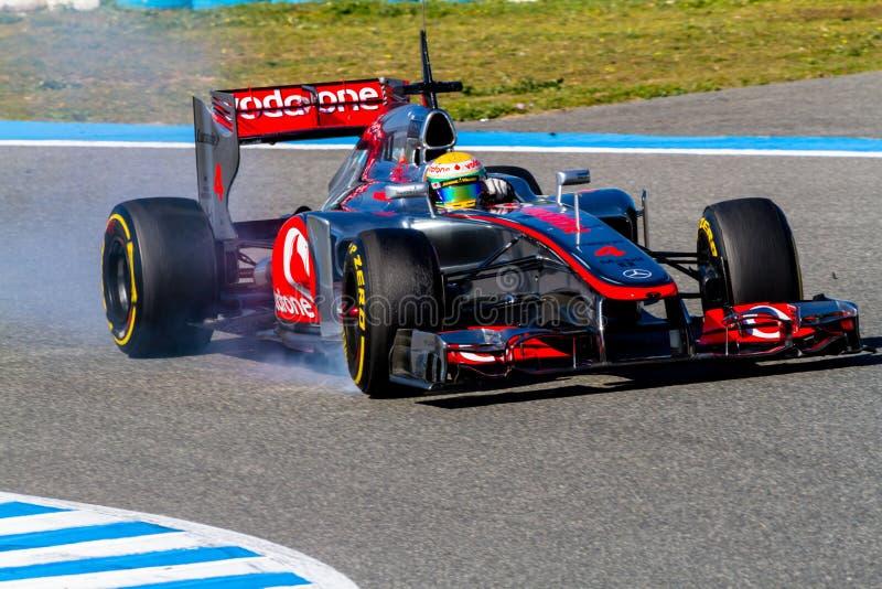Team McLaren F1, Lewis Hamilton, 2012 stock photography