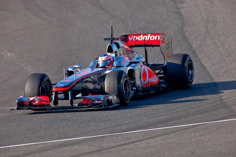 Team McLaren F1, Jenson Button, 2011 stock photos