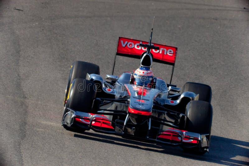 Team McLaren F1, Jenson Button, 2011 stock image