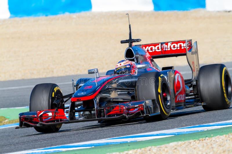 Team McLaren F1, Jenson Button, 2012 royalty free stock photos