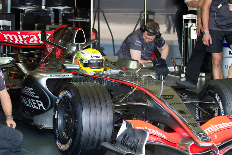 Download Team McLaren F1, Lewis Hamilton, 2006 Editorial Stock Photo - Image: 15163263