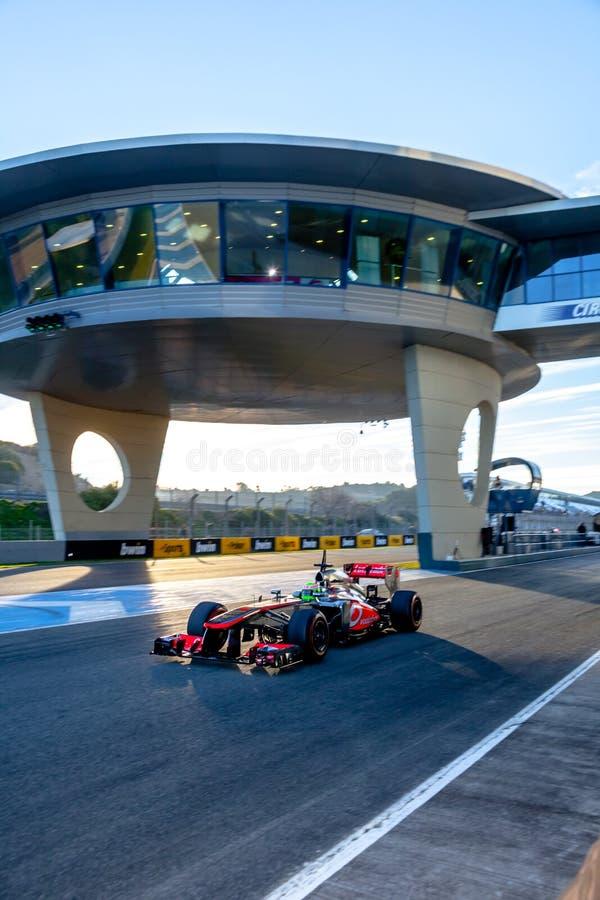 Team McLaren F1, Sergio Perez, 2013 royalty free stock images