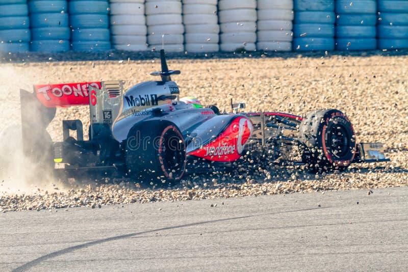 Team McLaren F1, Sergio Perez, 2013 stock photo