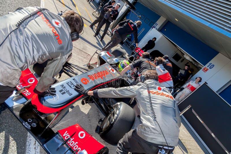 Team McLaren F1, Sergio Perez, 2013 stock image
