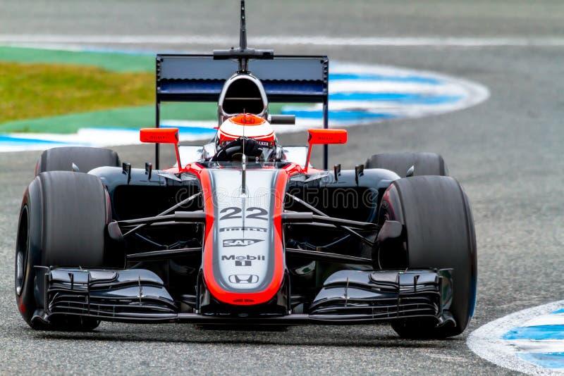 Team McLaren Honda F1, Jenson Button, 2015 fotografía de archivo