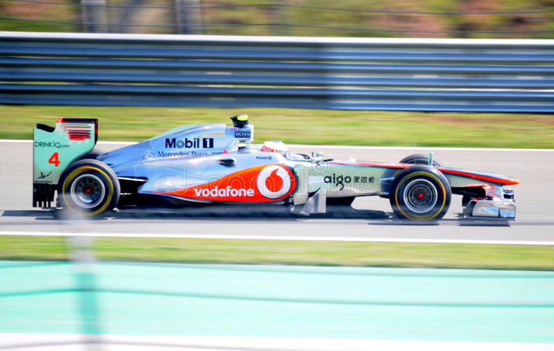 Team McLaren Mercedes royalty free stock photos