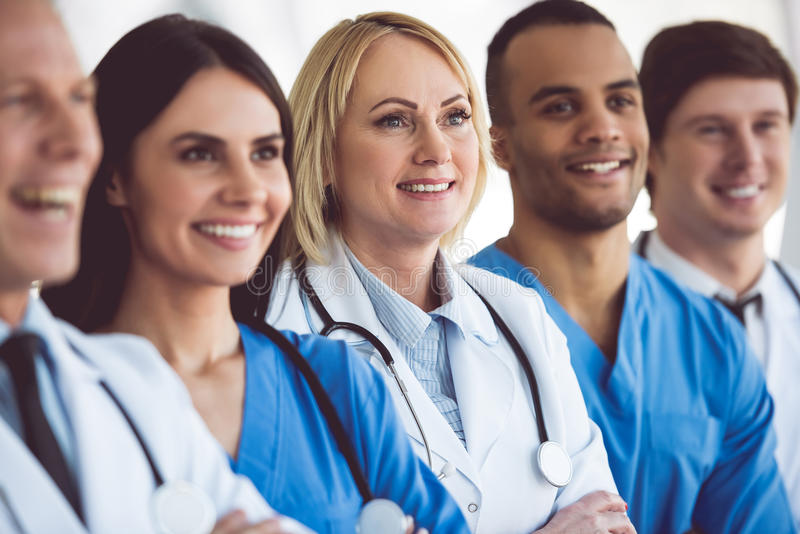 Team of medical doctors royalty free stock photography