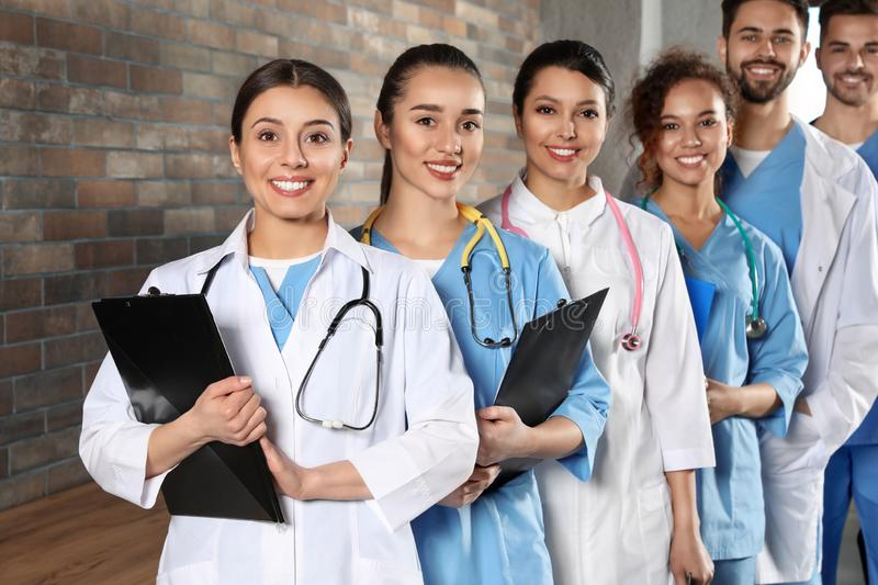 Team of medical workers. Unity concept royalty free stock photo