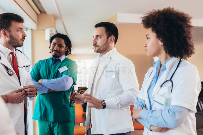 Team of medical workers in hospital royalty free stock image