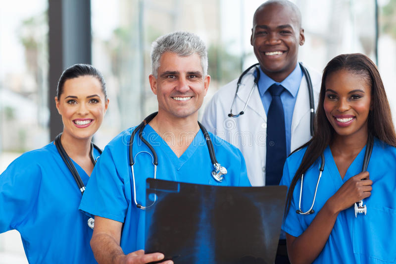 Team medical workers royalty free stock image