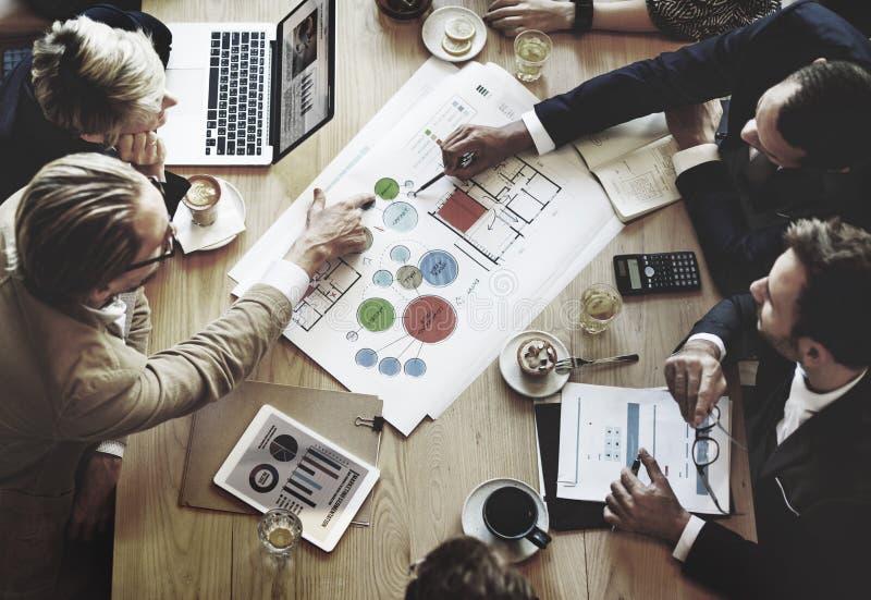 Team Meeting Brainstorming Planning Analysing-Konzept lizenzfreie stockfotografie