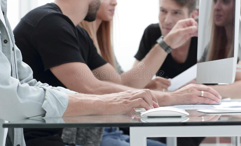 Team meeting in creative office royalty free stock images