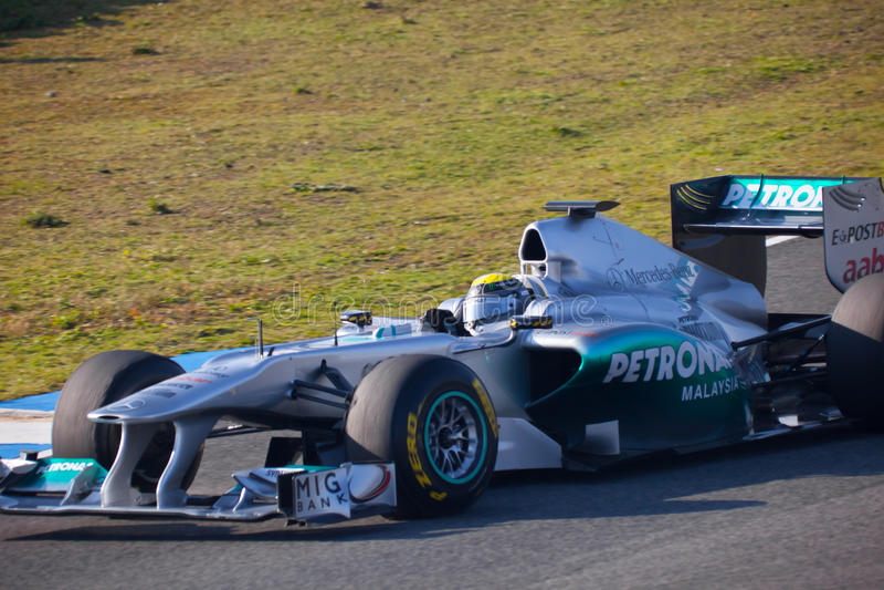 Download Team Mercedes F1, Nico Rosberg, 2011 Editorial Stock Image - Image: 21177404