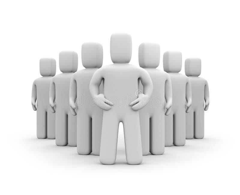 Team met leider stock illustratie