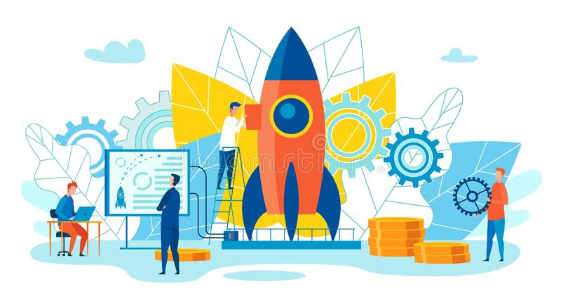 Team Metaphor Leadership Vector Illustration ilustración del vector