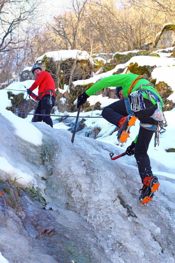 Download Team Of Mountaineers Heading To The Summit Stock Photo - Image: 29626644