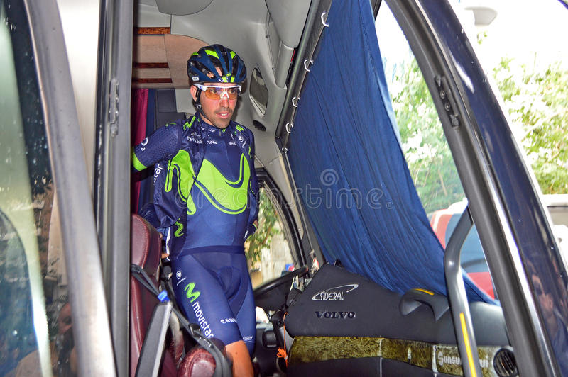 Team Movistar Rider stock images