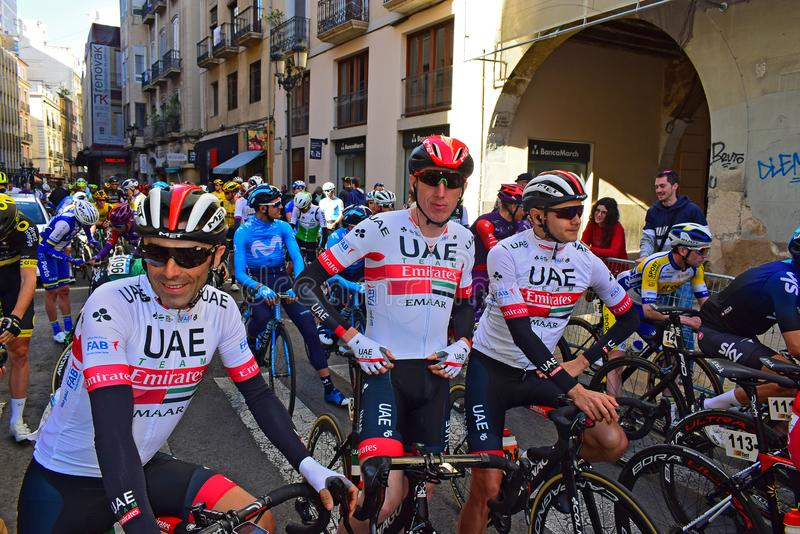 Dan Martin And UAE Team stock images