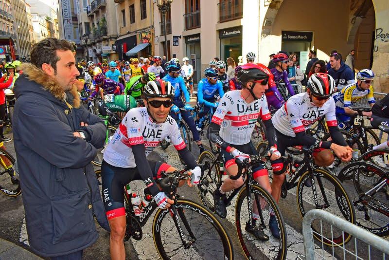 Dan Martin And UAE Team stock photo