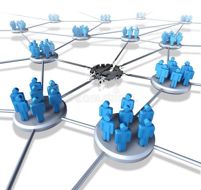 Team Network Problems stock abbildung