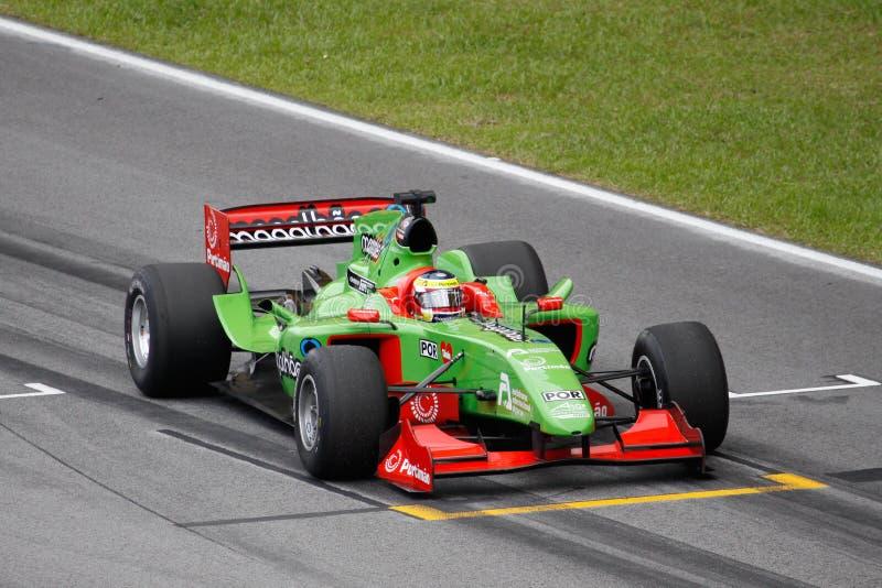 Team o carro do GP de Portugal A1 na grade começando imagem de stock royalty free
