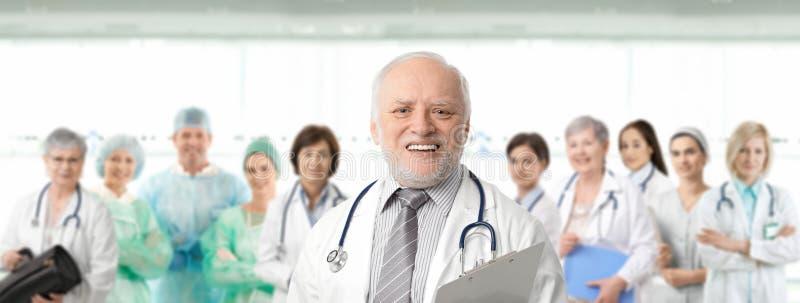 Team o retrato de profissionais médicos foto de stock