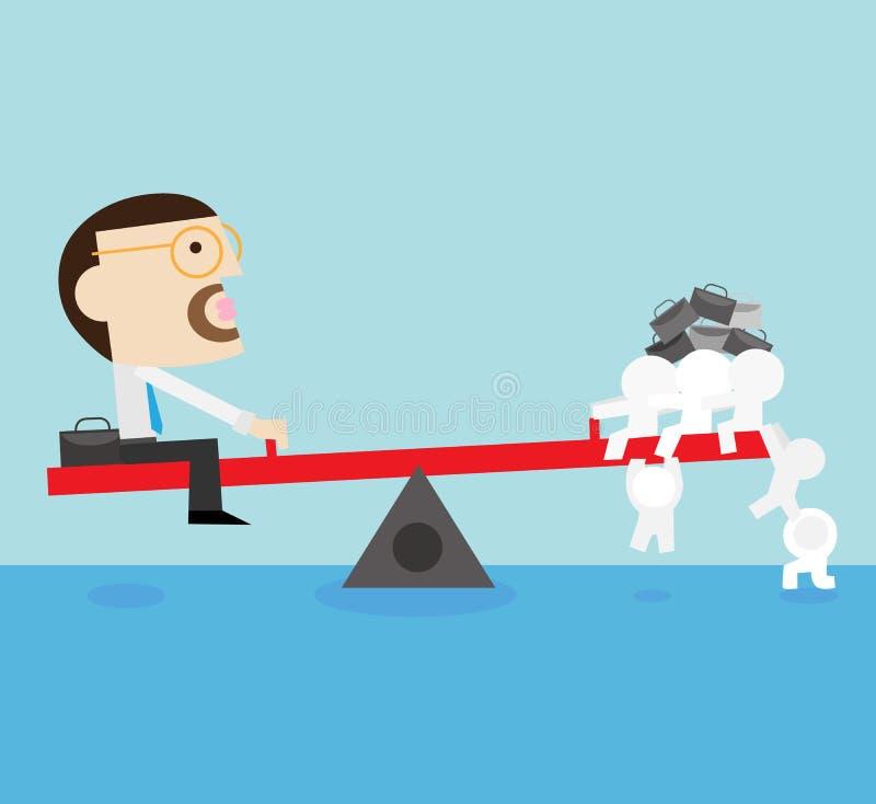 Team o trabalho ilustração stock