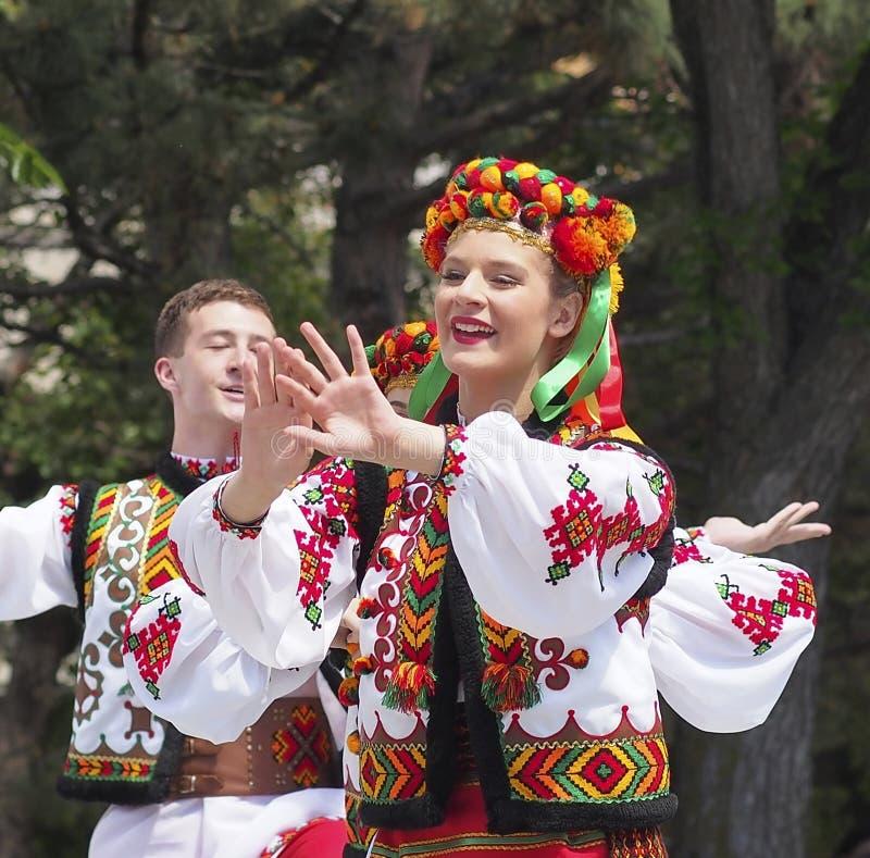 Free Team Of Ukrainian DancersAt Canada Day Celebration Stock Image - 121535491