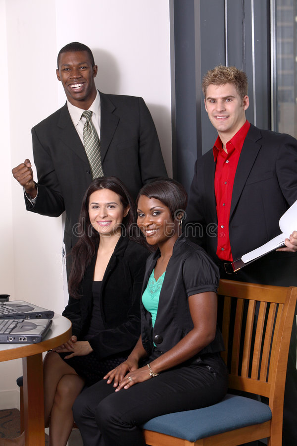 Download Team with one member stock photo. Image of sitting, people - 2584288