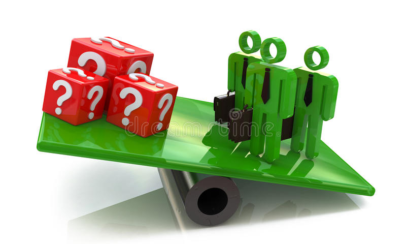Download Team Outweighs Cubes Issues Stock Illustration - Image: 32352614