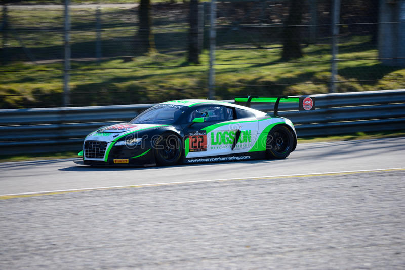 Team Parker Racing Audi R8 LMS ultra royaltyfria bilder