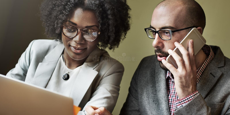 Team Partner Business Discussion Communication-Concept stock afbeeldingen