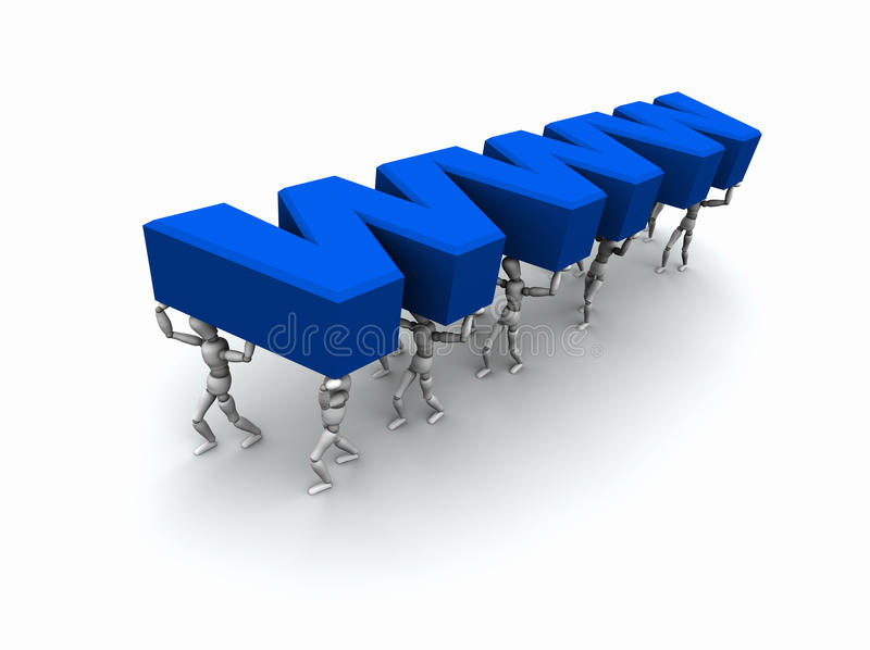 Download Team Of People Carrying 'WWW' Stock Illustration - Illustration of internet, group: 16136618