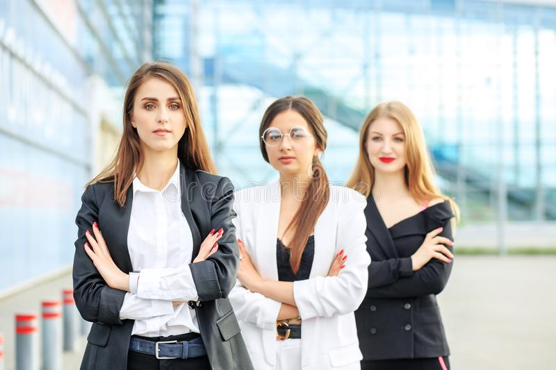 A team of people is working successfully. Concept for business, employees, partners and entrepreneurs stock image