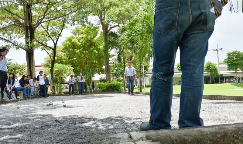 Team Petanque fotografering för bildbyråer