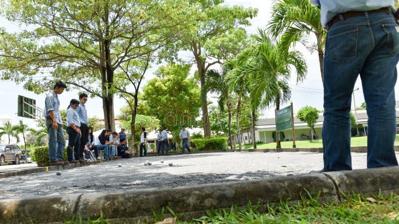 Team Petanque arkivfoton