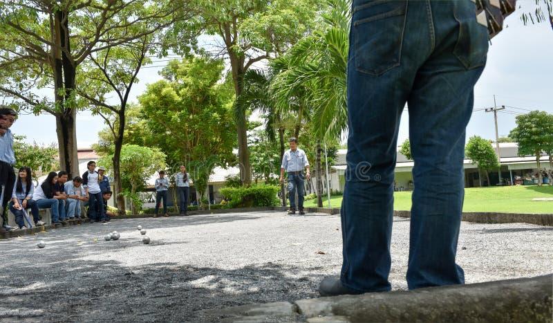 Team Petanque royaltyfri bild