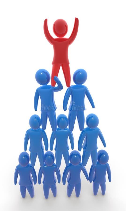 Team a pirâmide ilustração stock