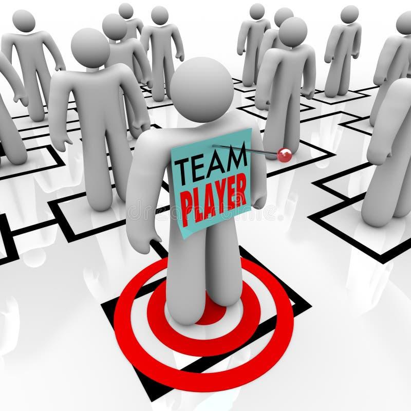 Team Player Targeted en trabajo en equipo de organización de la carta de Org stock de ilustración